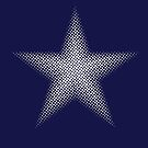 Halftone White Star - Star Spangled by Hawthorn Mineart