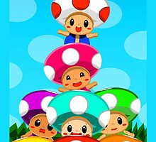 Stack o' Toads Samsung by SleepingRabbits