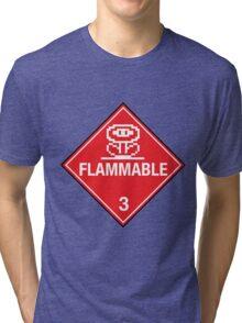 Flower Power Flammable Placard Tri-blend T-Shirt
