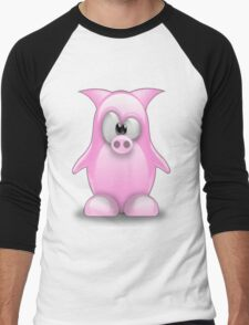 Piggy tux Men's Baseball ¾ T-Shirt