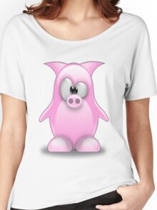 Piggy tux Women's Relaxed Fit T-Shirt