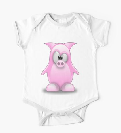 Piggy tux One Piece - Short Sleeve