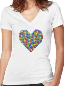 Heartris Women's Fitted V-Neck T-Shirt