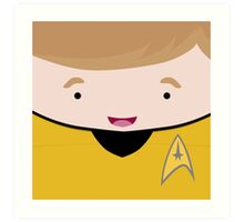 Captain James T Kirk Art Print
