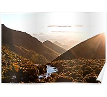 Sunset over the Knobs Poster
