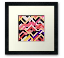 Coral & Black No. 1 Framed Print