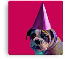 Pink Birthday Pup Canvas Print