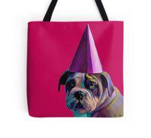 Pink Birthday Pup Tote Bag