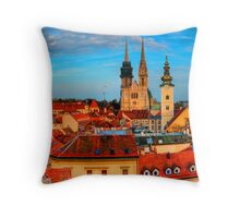 Croatia Cathedral  Throw Pillow