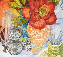 Peony, Pencils and Pears by Carol McLean-Carr