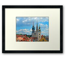 Croatia Skyline Framed Print