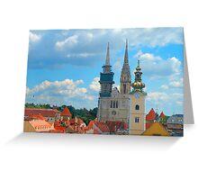 Croatia Skyline Greeting Card