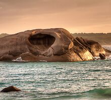 Cave Rock Twilight Beach by Peter Rattigan