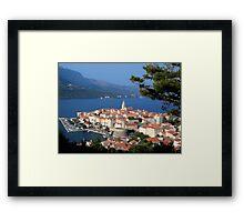 Croatia Harbor Framed Print