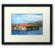 Croatia Inlet Framed Print