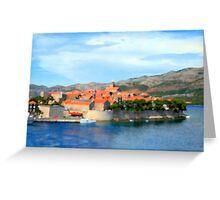 Croatia Inlet Greeting Card