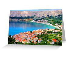Croatia Portside Greeting Card