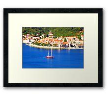 Croatia Boats Framed Print