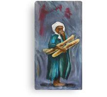 Boy With Bread Canvas Print