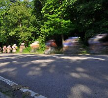 bicycle riders motion blur  by PhotoStock-Isra