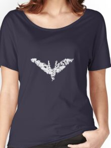 Batman 'Chalk Bat Signal' from The Dark Knight Rises Women's Relaxed Fit T-Shirt