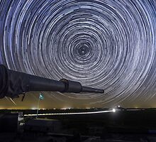 Time-exposure of polar star trails by PhotoStock-Isra