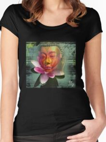 buddha lotus 2 Women's Fitted Scoop T-Shirt