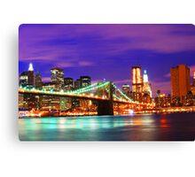 New York City Purple Skyline Canvas Print