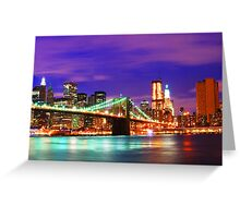 New York City Purple Skyline Greeting Card