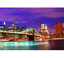 New York City Purple Skyline Photographic Print