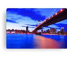 New York City Skyline Bridge Canvas Print