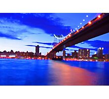 New York City Skyline Bridge Photographic Print