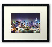 New York City Smoky Skyline Framed Print