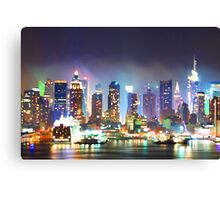 New York City Smoky Skyline Canvas Print