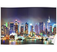 New York City Smoky Skyline Poster