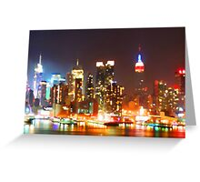 New York City Orange Skyline Greeting Card