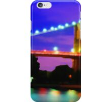 New York City Skyline Purple Bridge iPhone Case/Skin