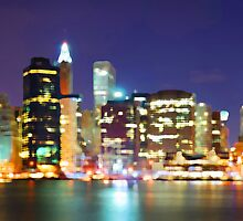 New York City Colorful Skyline by JessicaRoss