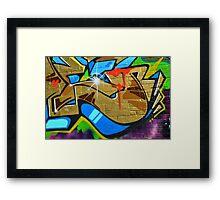 Graffiti close up - Framed Print