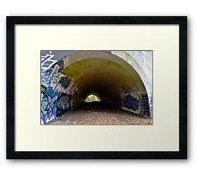 Graffiti in a tunnel - Framed Print