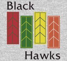 Black Hawks  Kids Tee