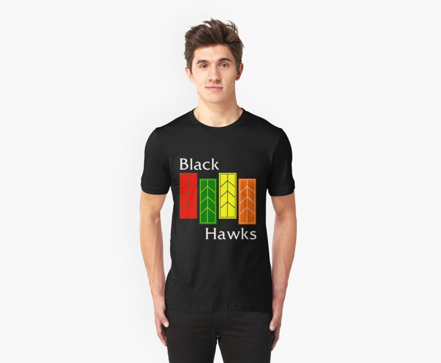 Black Hawks (reverse colors) by mightymiked