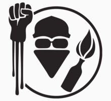 Anarchist Stencil Stickers by NeoFaction