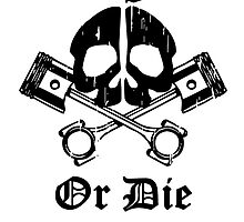 Live Free Or Die Gear Skull by kwg2200