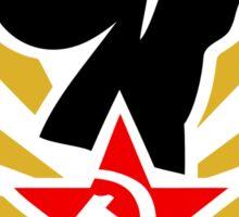 Soviet Raised Fist with Red Star Stickers Sticker