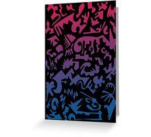 Urban Chaos Pink & Blue Greeting Card