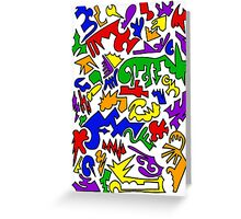 Urban Chaos Colorful Greeting Card