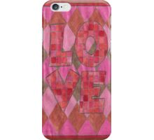Four Letter words, LOVE iPhone Case/Skin