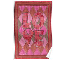 Four Letter words, LOVE Poster