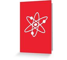 The Big Bang Theory Atom Logo 2 (in white) Greeting Card